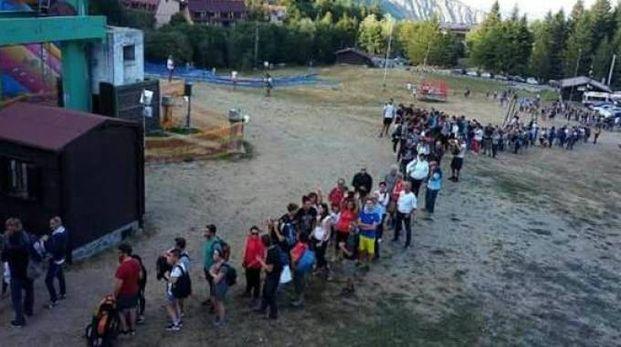 La fila alla seggiovia di Febbio: un esperimento riuscito quest'estate