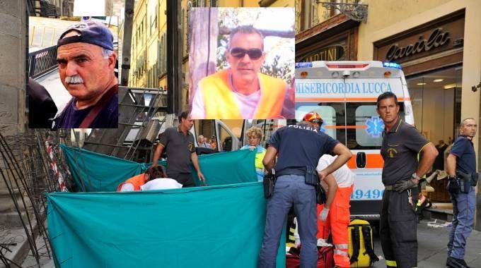 Le vittime, da sinistra Antonio Pellegrini, 61 anni ed Eugenio Viviani, 54