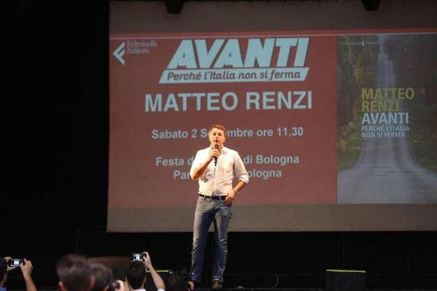 Renzi è qui per presentare il suo libro (Ansa)