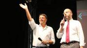 Renzi e Critelli sul palco (Ansa)
