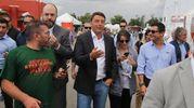 L'arrivo di Renzi (Ansa)
