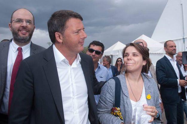 Renzi e Guiditta Pini (foto Schicchi)