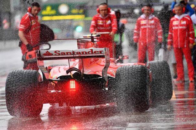 La pioggia torrenziale su Monza (Afp)