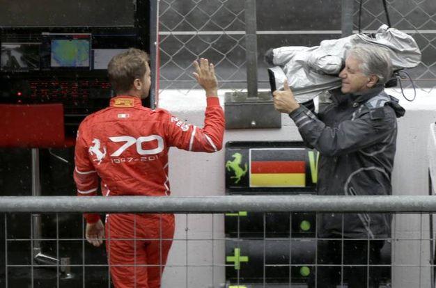 La delusione di Vettel (Afp)
