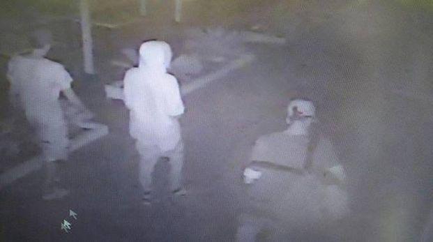 Il fotogramma che riprende il branco la sera dell'aggressione e del doppio stupro
