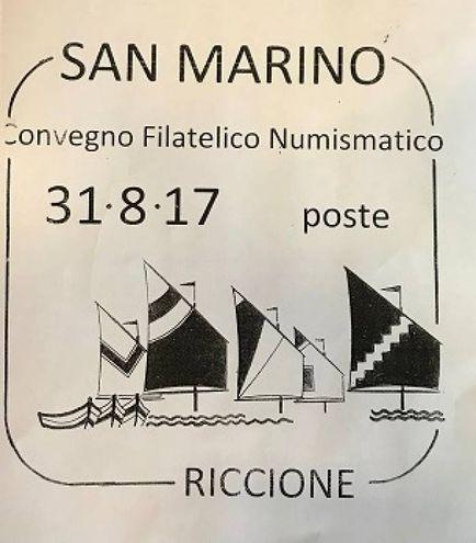 L'annullo delle poste di San Marino (Foto Concolino)