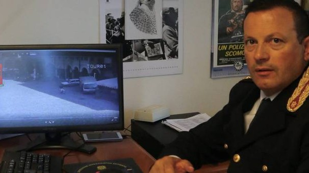 PROVA Giorgio Di Munno davanti al video della rapina