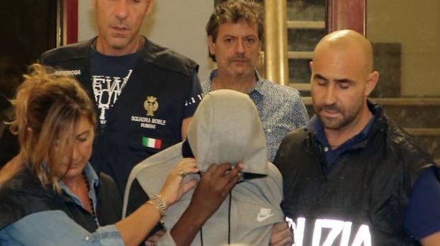 L'arresto dei tre minorenni del branco