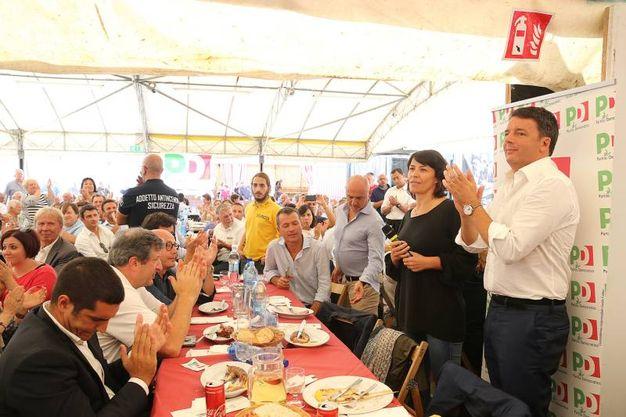 Il pranzo alla festa dell'Unità (foto Zani)