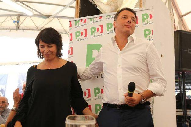 Nella foto con il segretario Pd provinciale, Eleonora Proni (foto Zani)