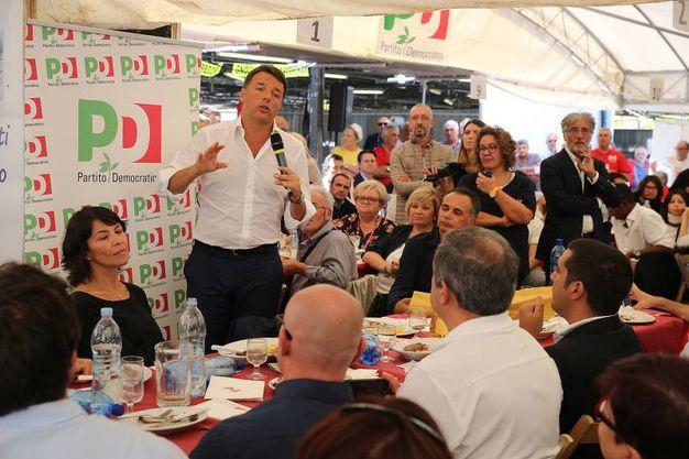 L'appello di Renzi ad essere uniti dentro il Pd (foto Zani)