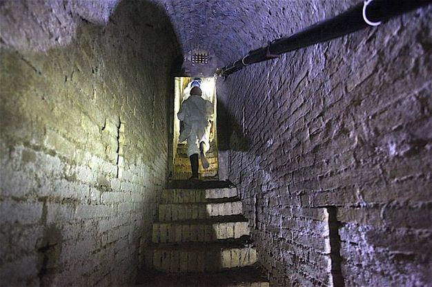 Il nuovo cunicolo che arriva al Passetto (foto Antic)