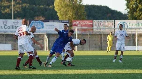 La partita Prato-Livorno si è giocata a Pontedera  (Sarah Esposito/Fotocronache Germogli)