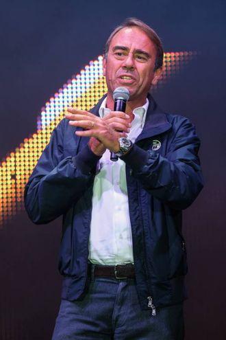 Radio Bruno Estate, il direttore di Qn-il Resto del Carlino, Andrea Cangini, sul palco di Piazza Maggiore (Foto Schicchi)