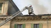 Meda, incendio a Villa Antona Traversi