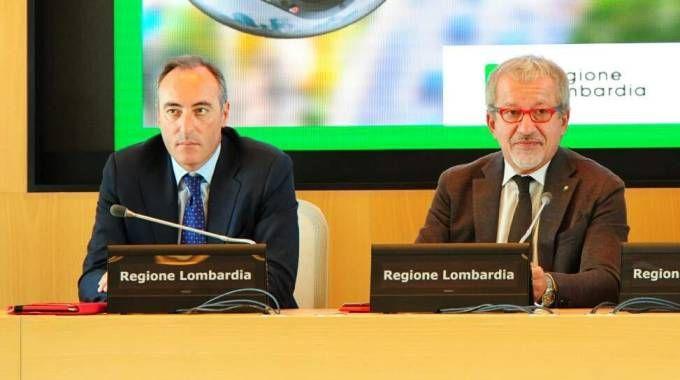 Giulio Gallera e Roberto Maroni