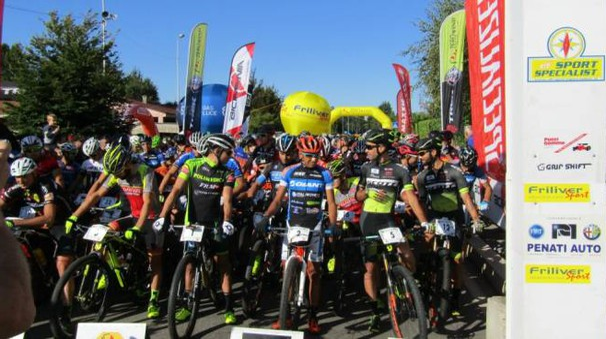 La partenza della Marathon bike della Brianza