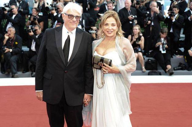 Simona Izzo con il marito Ricky Tognazzi (Lapresse)