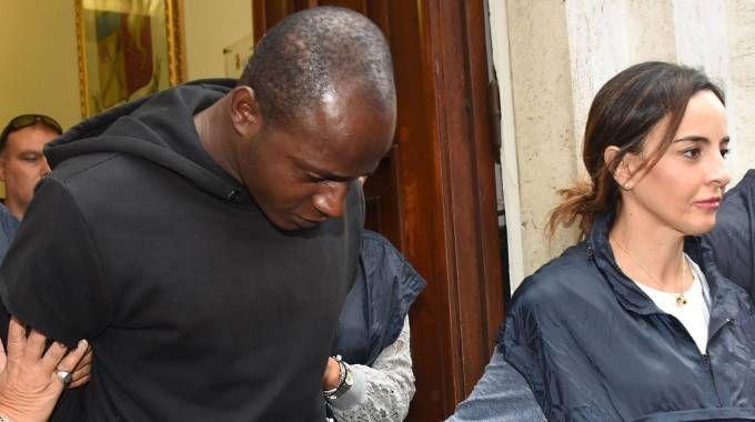 Guerlin Butungu, congolese, l'unico maggiorenne tra gli arrestati (foto Migliorini)