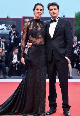 Giampaolo Morelli con la compagna Gloria Bellicchi, ex Miss Italia (Ansa)