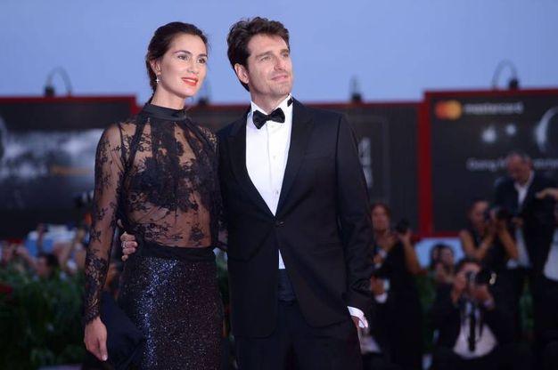 Giampaolo Morelli con la compagna Gloria Bellicchi, ex Miss Italia (Afp)