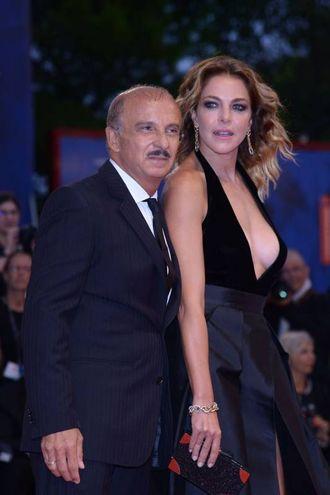 Carlo Buccirosso e Claudia Gerini (Afp)