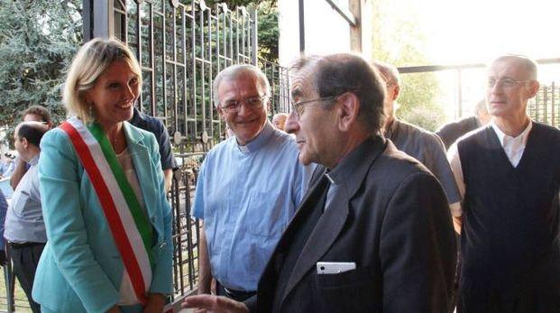 Mario Depini con la sindaca Ivonne Cosciotti