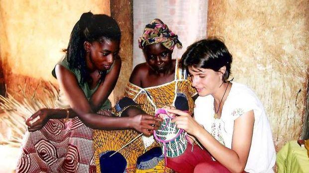 La segratese Sara Crippa durante una missione internazionale