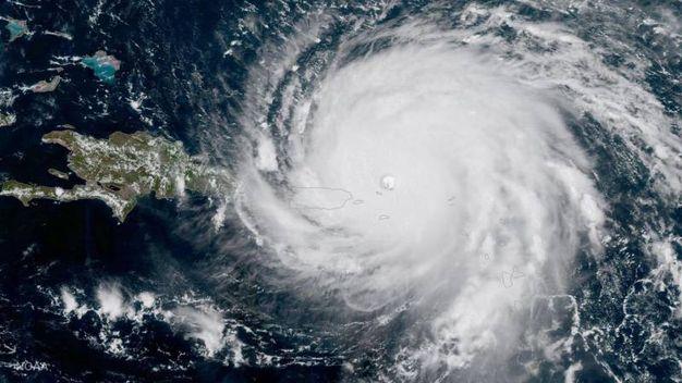L'uragano verso Porto Rico (Ansa)