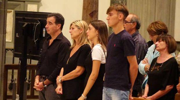 Un momento della messa in suffragio per Niccolò Ciatti (New Press Photo)