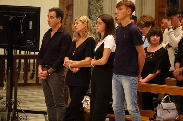 Firenze, la messa nella basilica di San Lorenzo in suffragio di Niccolò Ciatti, il giovane ucciso in Spagna (New Press Photo)
