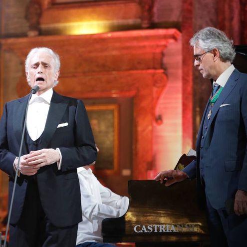 Josè Carreras e Andrea Bocelli (Foto Massimo Sestini)