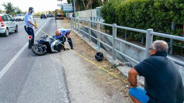 Incidente in scooter (foto Zeppilli)