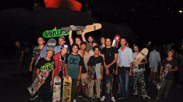 Gli skaters di Como