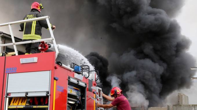 Incendio a Mortara