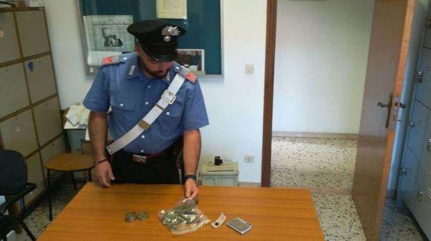 La droga sequestrata dai carabinieri di Corridonia