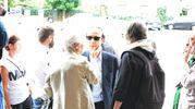 Roberto Benigni a Prato per il funerale del cognato Fiorenzo (foto Pecchioli/Attalmi)