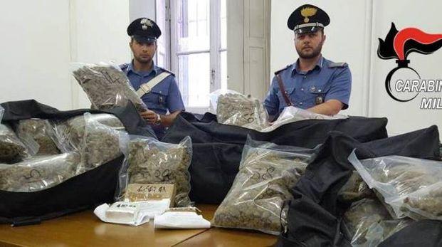 La marijuana sequestrata in casa