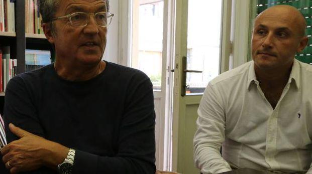 Il presidente del Pisa, Giuseppe Corrado, nella nostra redazione (foto Valtriani)