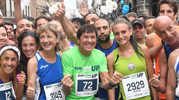 Gianni Morandi all'UniSalute Run Tune Up (Foto Schicchi)