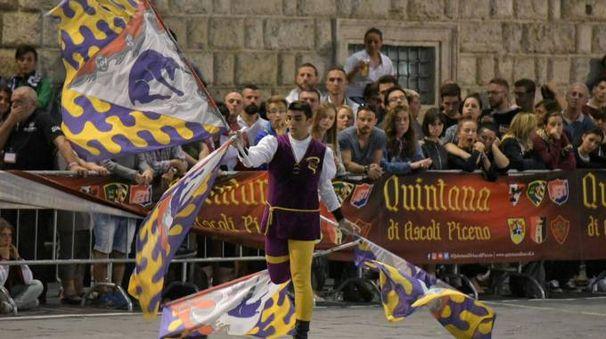 Alessandro Tortorici durante la vittoriosa esibizione ai nazionali di Ascoli Piceno