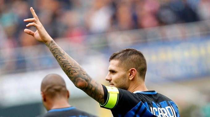 Inter-Spal, Icardi gol (LaPresse)