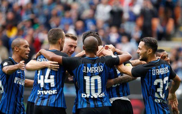 L'esultanza dell'Inter (La Presse)