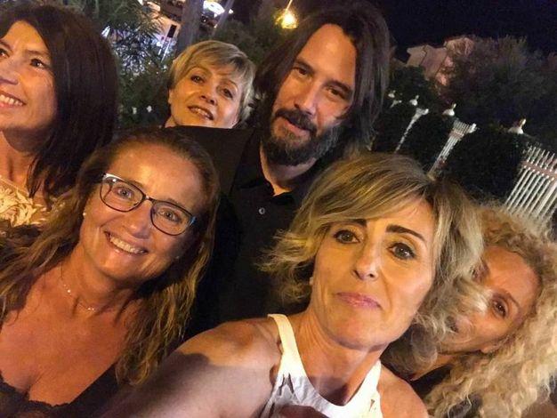 Con un gruppo di fan romagnole