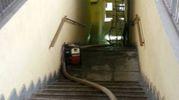 Anche il sottopassaggio della stazione ferroviaria di Codogno ha subito danni