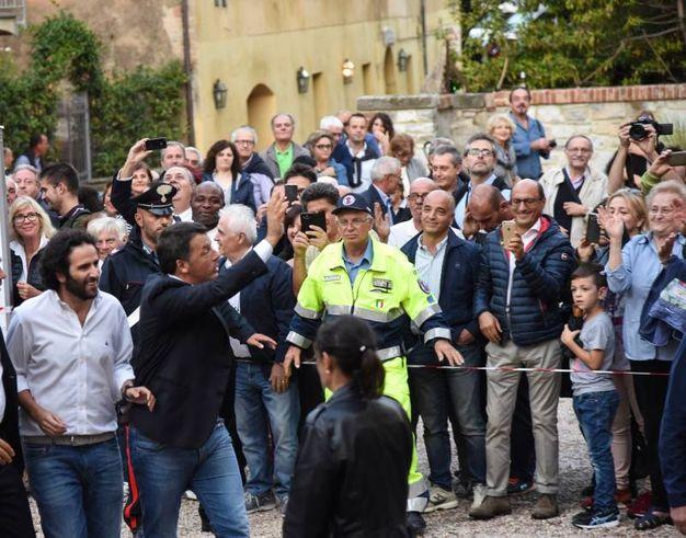 Matteo Renzi a Castiglione del Lago (foto Crocchioni)