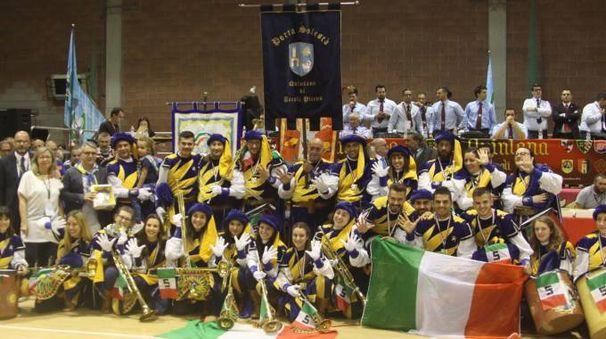 Solestà campione d'Italia nella specialità musici (Foto La Bolognese)