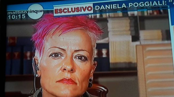Daniela Poggiali a Mattino Cinque, con il nuovo look