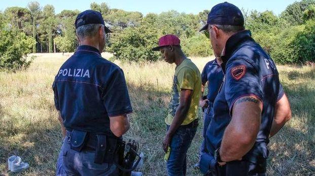 La polizia al Miralfiore
