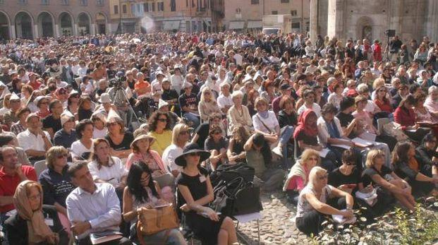 Festival Filosofia, folla in piazza in una delle passate edizioni (FotoFiocchi)
